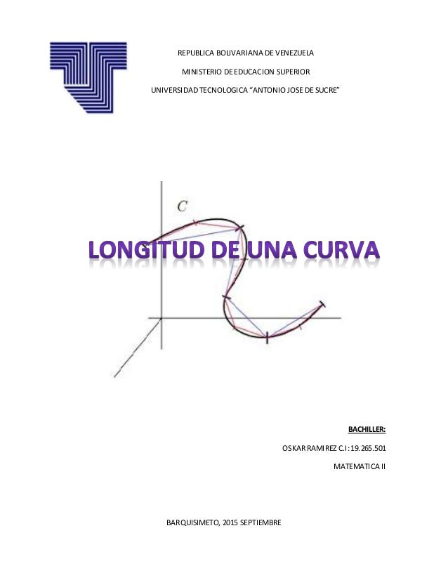 BACHILLER: OSKARRAMIREZ C.I:19.265.501 MATEMATICA II BARQUISIMETO, 2015 SEPTIEMBRE REPUBLICA BOLIVARIANA DE VENEZUELA MINI...