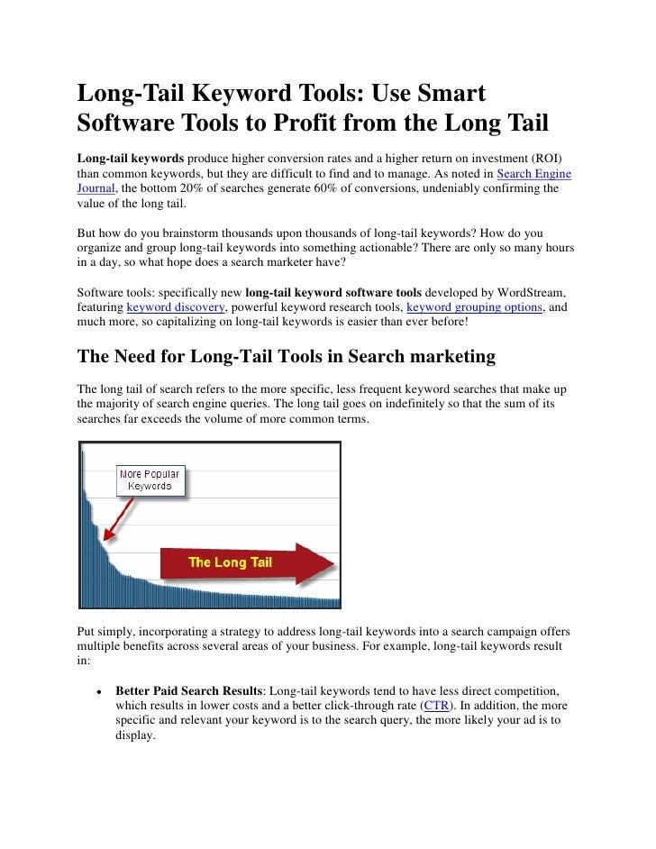 Long Tail Keyword Tool