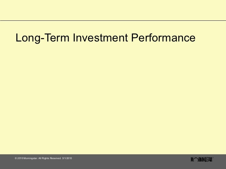 Long-Term Investment Performance