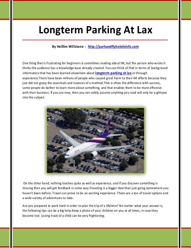 Longterm parking at lax