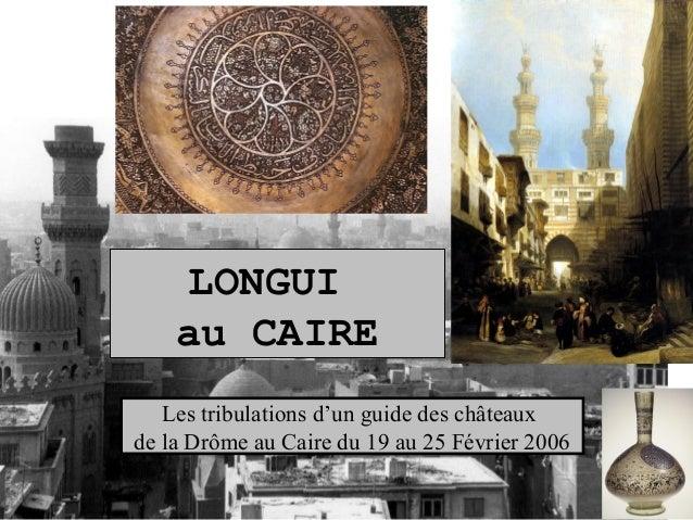 LONGUI au CAIRE Les tribulations d'un guide des châteaux de la Drôme au Caire du 19 au 25 Février 2006
