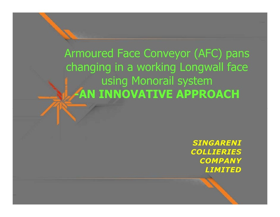Longwall AFC changing - innovation