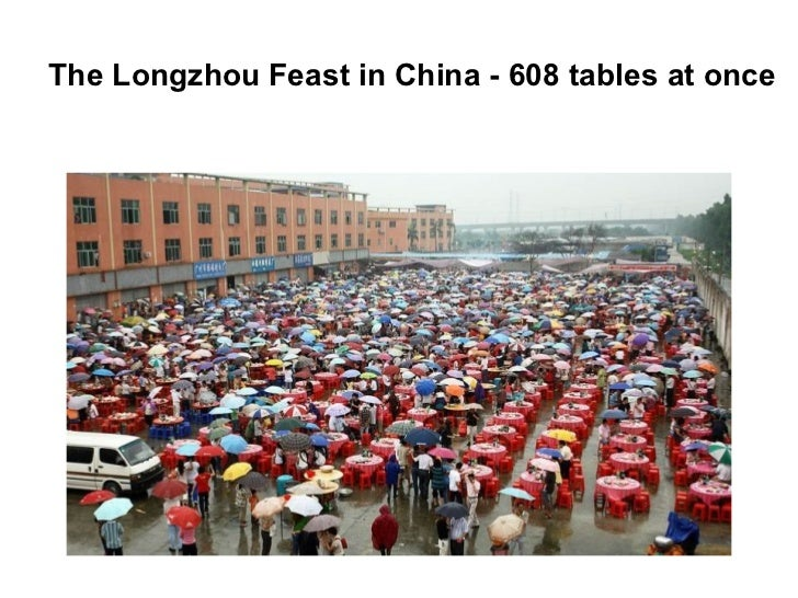 The Longzhou Feast in China - 608 tables at once