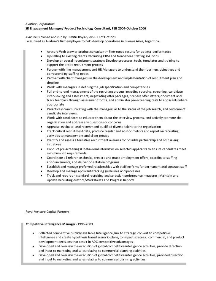 international sales resume