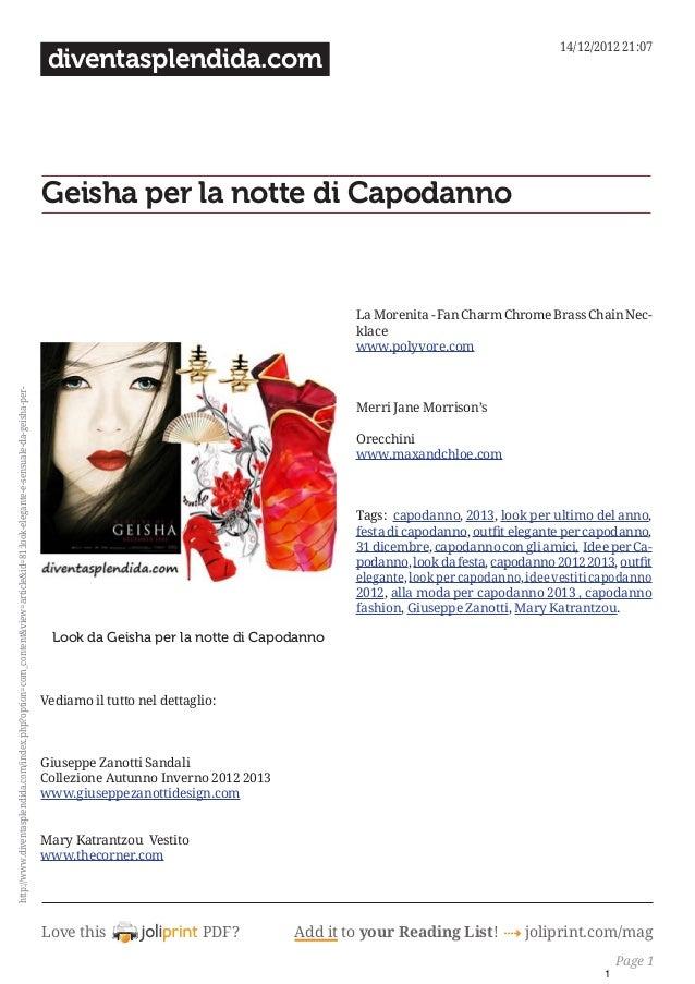 Love this PDF? Add it to your Reading List! 4 joliprint.com/mag diventasplendida.com Geisha per la notte di Capodanno   ...