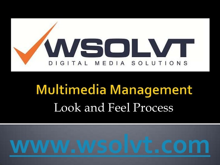 Multimedia Project managemnt (Look and feel) - from Wsolvt