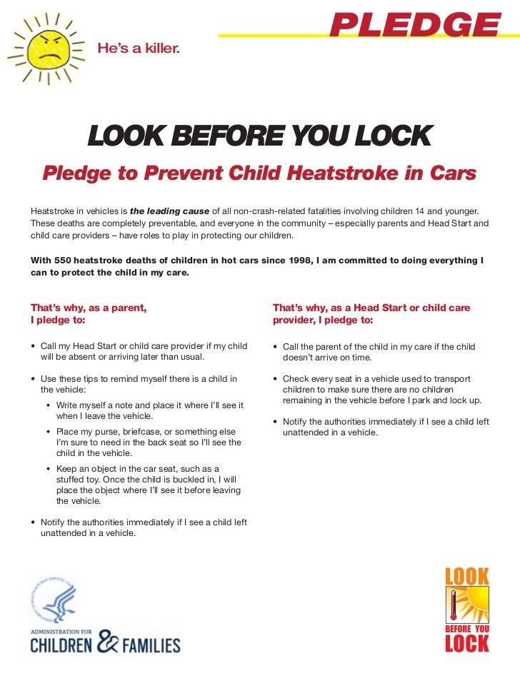 Look before you lock pledge