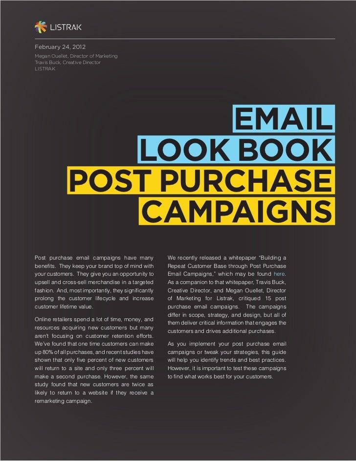 February 24, 2012Megan Ouellet, Director of MarketingTravis Buck, Creative DirectorLISTRAK                      EMAIL     ...