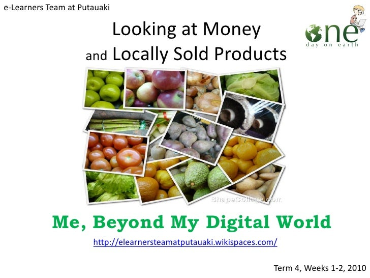 Looking at money 2   locally sold products