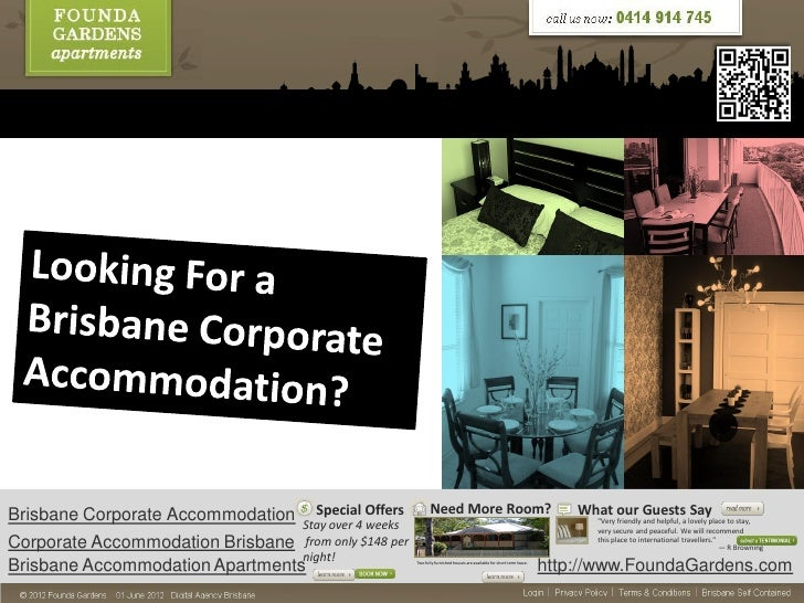 Looking for a brisbane corporate accommodation