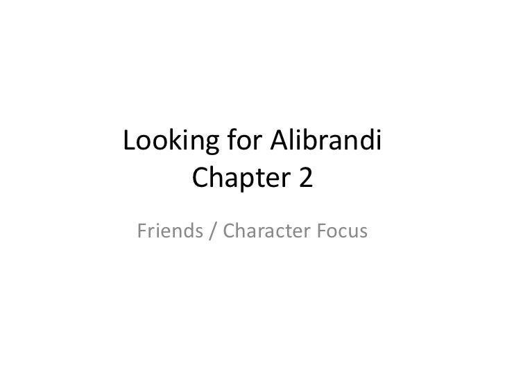 "looking for alibrandi family essay The novel ""looking for alibrandi"" by melina marchetta is a perfect representation of how our family and culture play an integral part in our journey to discover."