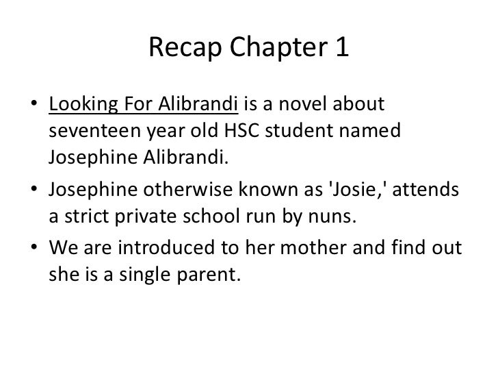looking for alibrandi essay example Essays from bookrags provide great ideas for looking for alibrandi essays and paper topics like essay view this student essay about looking for alibrandi.