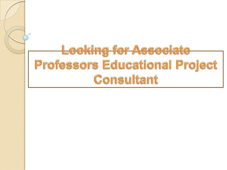 Designation: - associateprofessors / educational projectconsultantIndia Technologies is based E-Branding  Mumbai city of ...