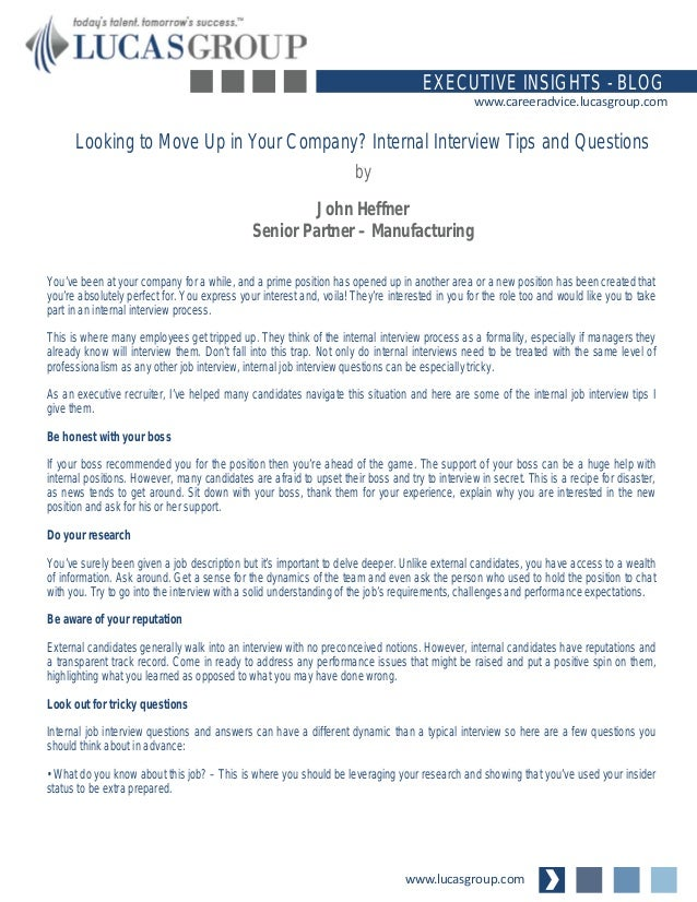 internal promotion interview questions and answers pdf