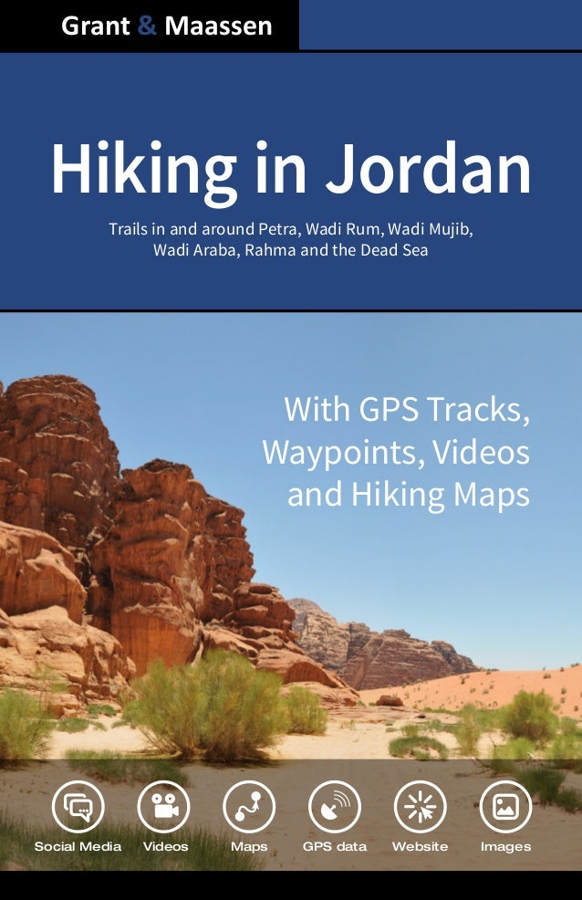 Look Inside E-book Full Color Edition - Hiking in Jordan By Grant and Maassen - ISBN 978-1492811893 - Wandel Guides