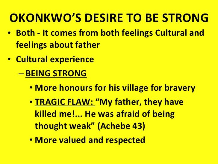 examples of okonkwo as a tragic hero