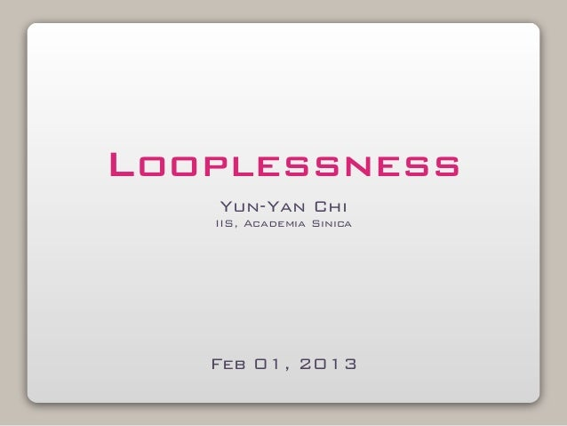 Examples for loopless