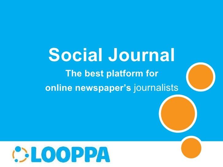 Social Journal The best platform for online newspaper's  journalists