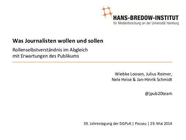Was  Journalisten  wollen  und  sollen        Rollenselbstverständnis  im  Abgleich     mit  Erwar...