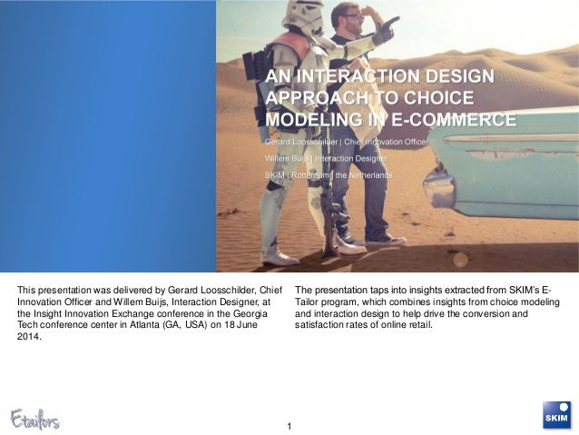 This presentation was delivered by Gerard Loosschilder, Chief Innovation Officer and Willem Buijs, Interaction Designer, a...