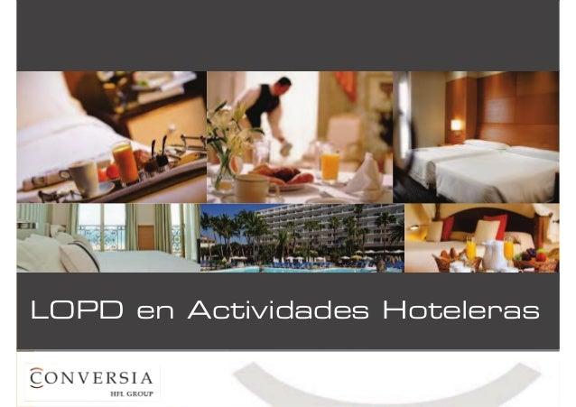 Lopd en la situación laboral relacionada con el sector hotelero