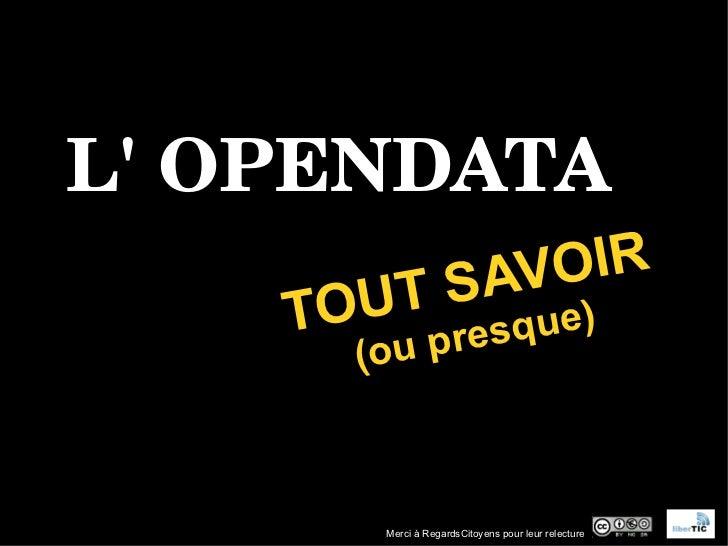 L'opendata