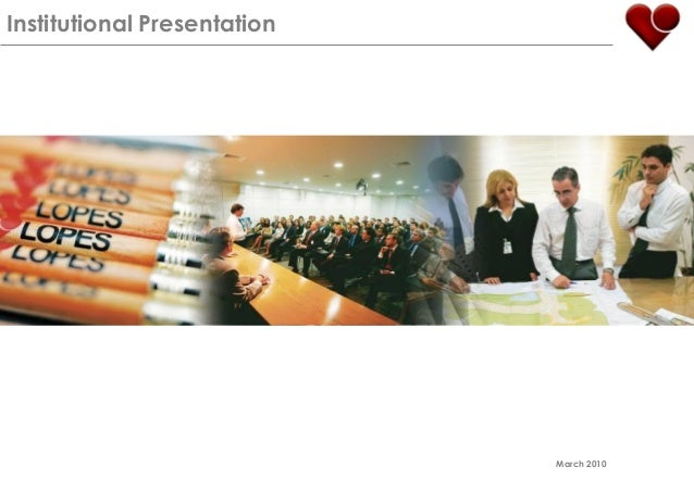 Institutional Presentation March 2010