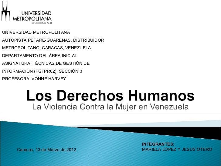 UNIVERSIDAD METROPOLITANAAUTOPISTA PETARE-GUARENAS, DISTRIBUIDORMETROPOLITANO, CARACAS, VENEZUELADEPARTAMENTO DEL ÁREA INI...