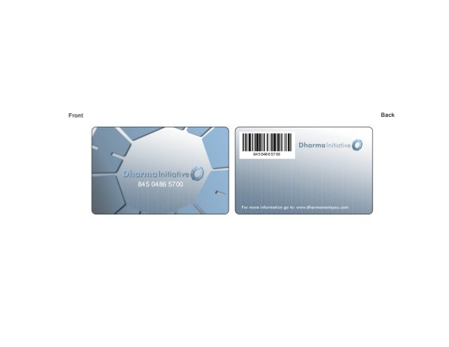 Dharma Initiative pass card
