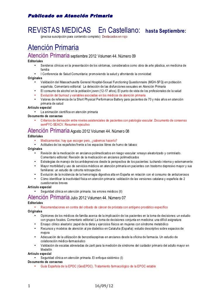 Publicado en Atención PrimariaREVISTAS MEDICAS En Castellano:                                                        hasta...