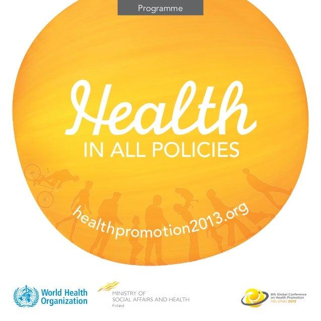 8GCHP Conference Programme Leaflet