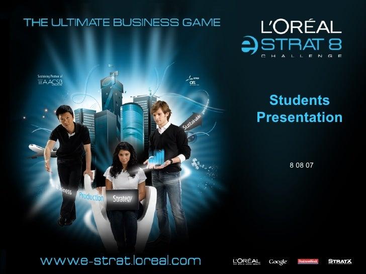 L'Oréal e-Strat Challenge 8