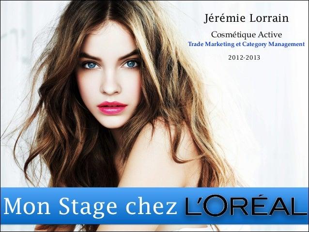 L'Oréal - Stage chez un Leader