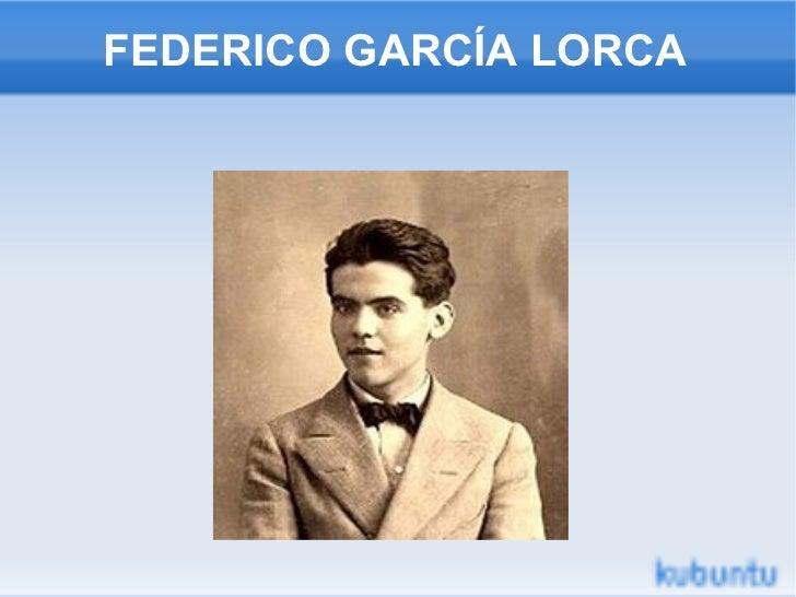 FEDERICO GARCÍA LORCA F