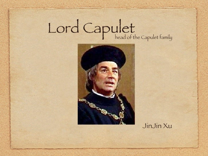 romeo and juliet lord capulet characterist Romeo and juliet: characters he is attracted to the beauty of juliet and asks lord capulet count paris stands as a contrast to romeo's character.