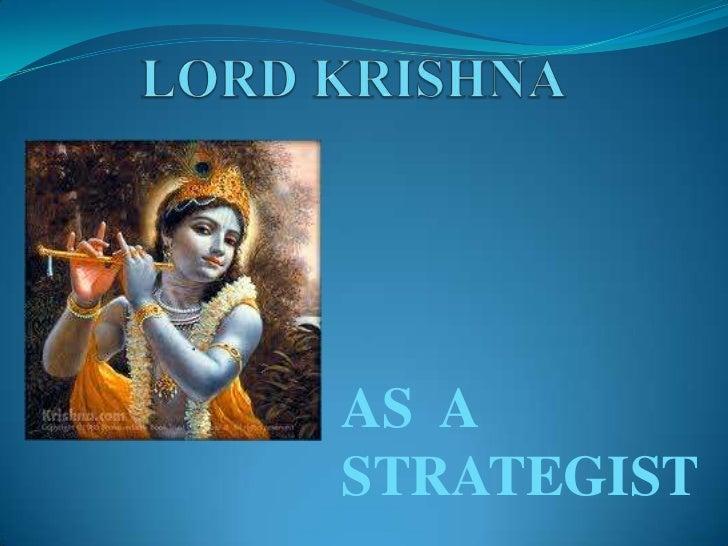 Lord krishna as a strategist