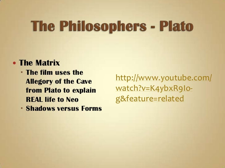 matrix versus allegory of the cave Both the matrix and the allegory of the cave are incredibly similar in their  fundamental subject matter, yet have their differences when looked at under a.