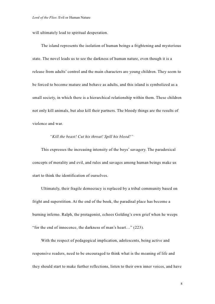 human nature essay lord flies