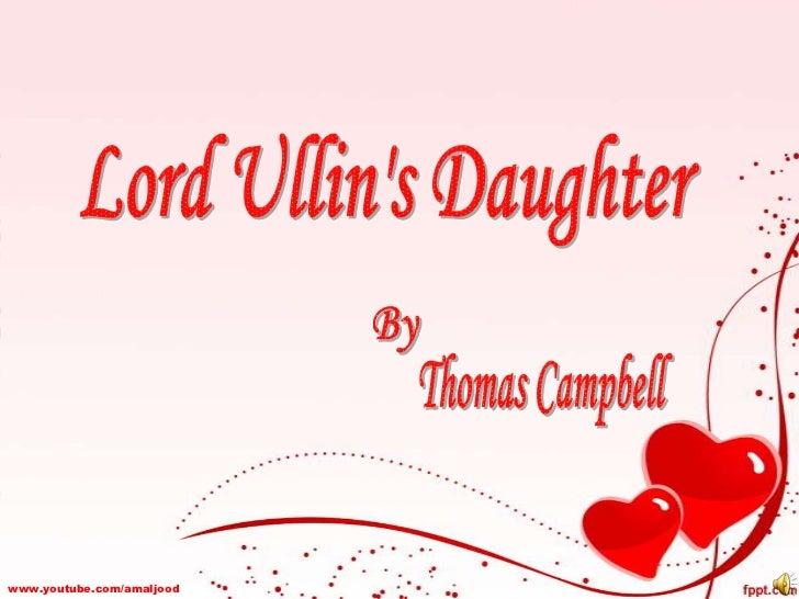 Lord Ullin's Daughter