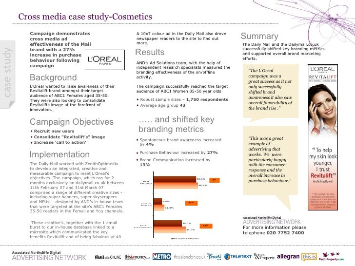 Cross media case study-Cosmetics Background Campaign Objectives Campaign demonstrates cross media ad effectiveness of the ...