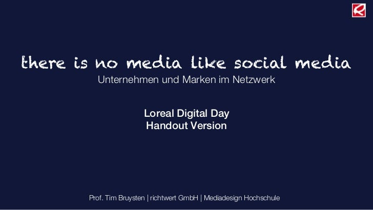 Loreal Digital Day Handout