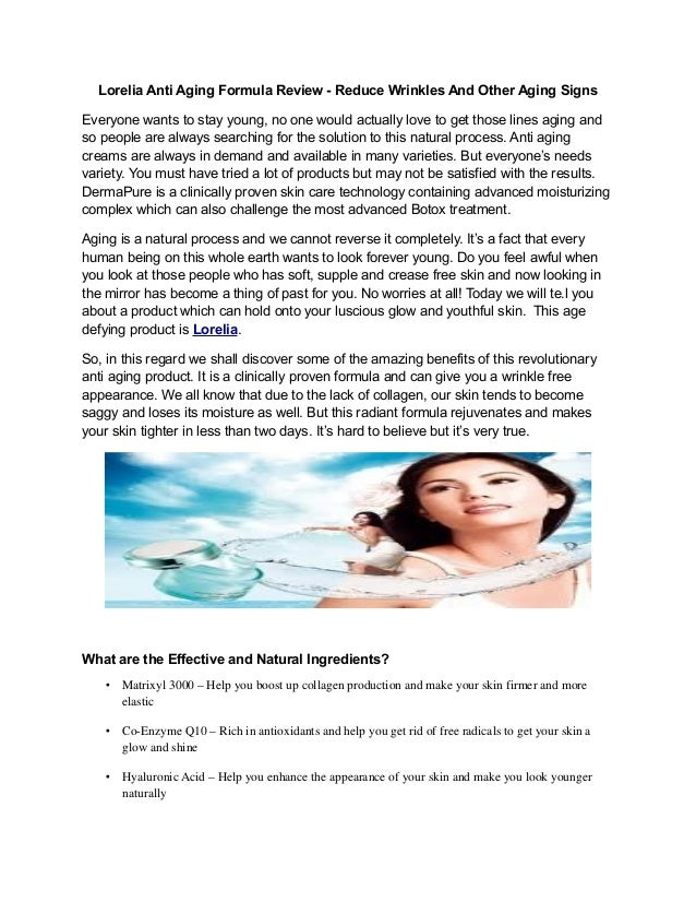 Lorelia review   reduce wrinkles and other aging signs