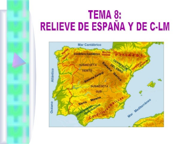 Índice 1. 2.  1.  1.  SITUACIÓN, TERRITORIOS Y LÍMITES DE ESPAÑA. EL RELIEVE DE ESPAÑA 2.1 La meseta central 2.2 Montañas ...