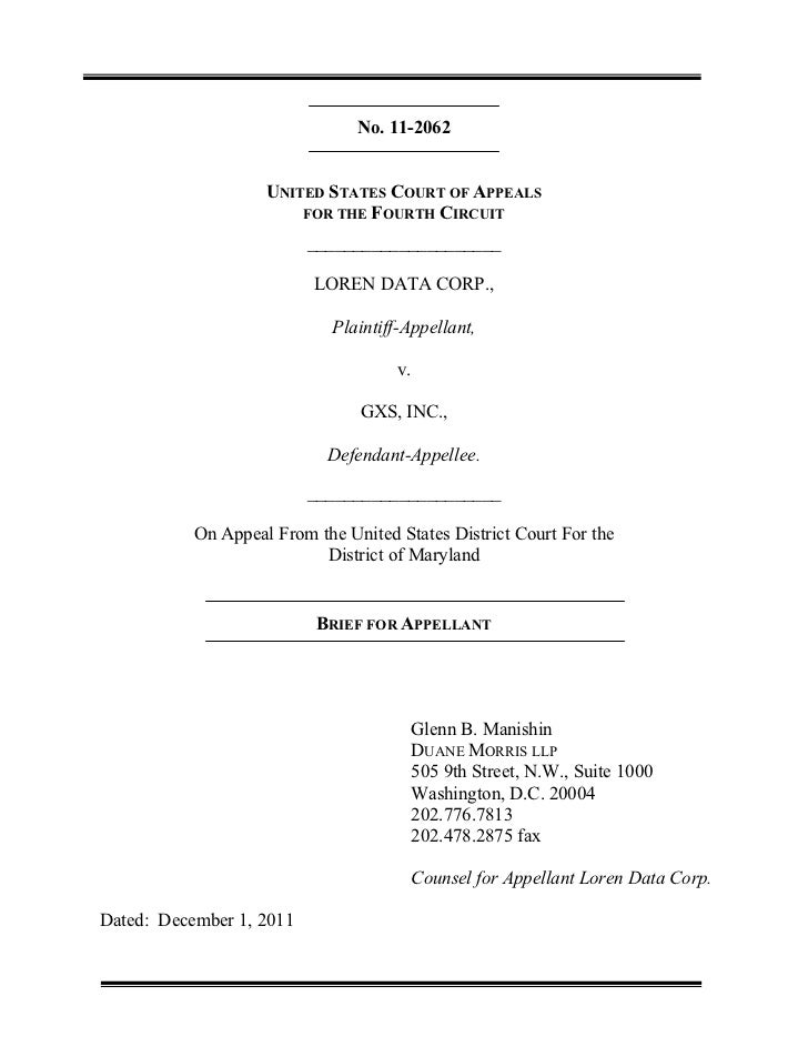 No. 11-2062                    UNITED STATES COURT OF APPEALS                        FOR THE FOURTH CIRCUIT               ...