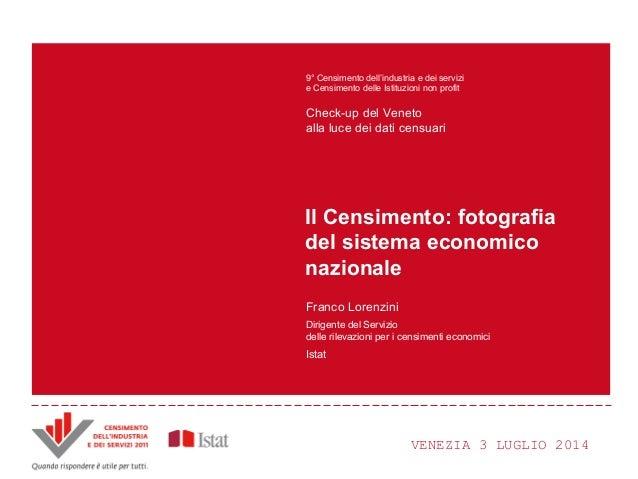 F. Lorenzini - Il Censimento: fotografia del sistema economico nazionale