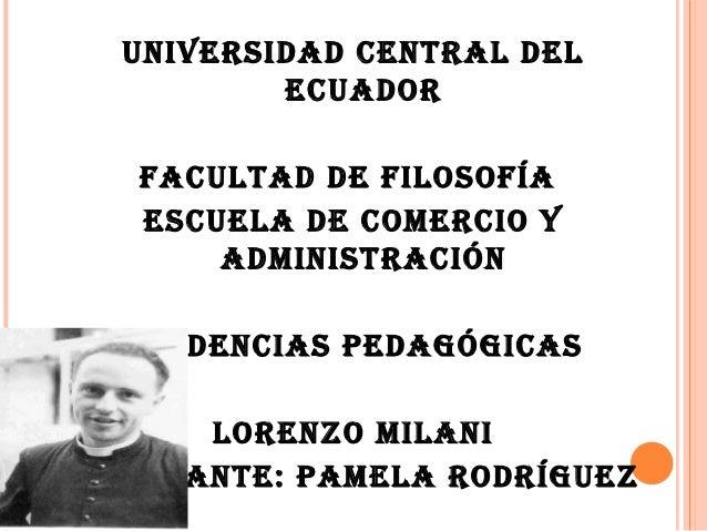 UNIVERSIDAD CENTRAL DEL          ECUADOR   FACULTAD DE FILOSOFÍA   ESCUELA DE COMERCIO Y       ADMINISTRACIÓN  TENDENCIAS ...
