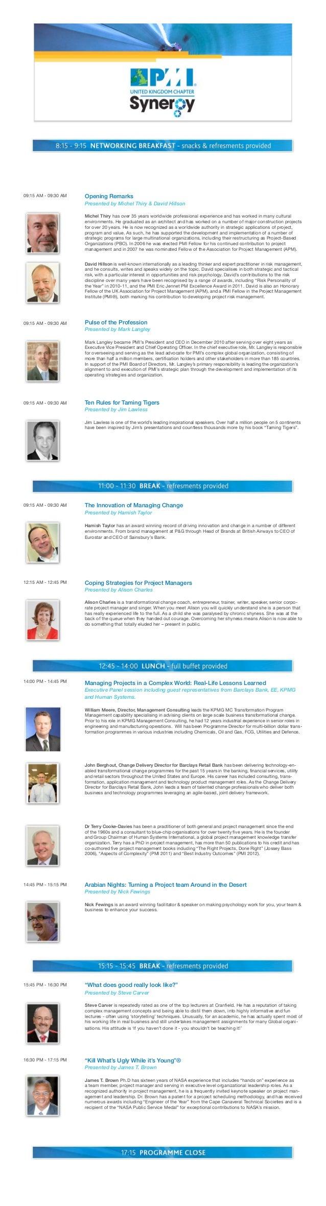 PMI UK Synergy 2013 - Full Program - LoRes