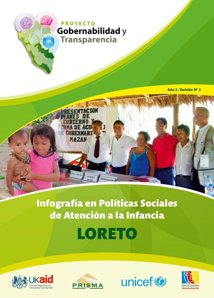 Año 2 / Boletín Nº 2Infografía en Políticas Sociales   de Atención a la Infancia         LORETO