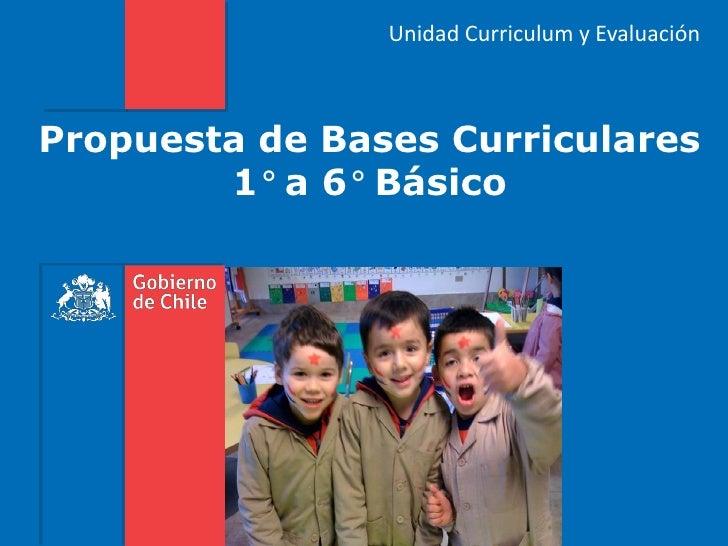 Unidad Curriculum y EvaluaciónPropuesta de Bases Curriculares        1° a 6° Básico