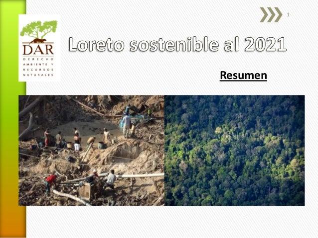Loreto Sostenible al 2021, con ilustraciones (2013)